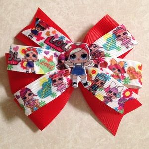 Lol Surprise Red Hair Bow